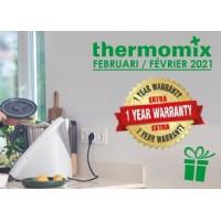 Thermomix TM6 promotie  Januari: 1 jaar extra garantie.
